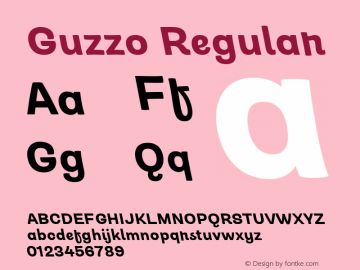 Guzzo Bold Italic Version 1.00图片样张