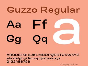 Guzzo Ext SemiBold Version 1.00图片样张