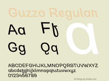 Guzzo Italic Version 1.00图片样张