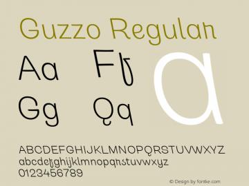 Guzzo Light Italic Version 1.00图片样张