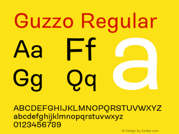 Guzzo Regular Version 1.00图片样张