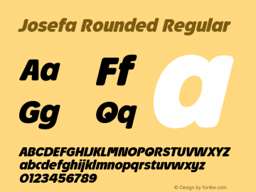 Josefa Rounded Bold Italic Version 1.011图片样张