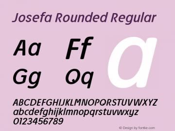 Josefa Rounded Book Italic Version 1.011图片样张