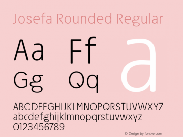 Josefa Rounded ExtraLight Version 1.007图片样张