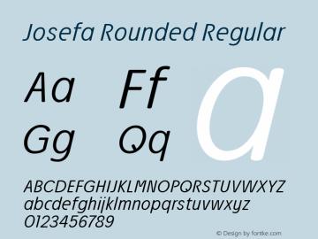 Josefa Rounded Light Italic Version 1.011图片样张
