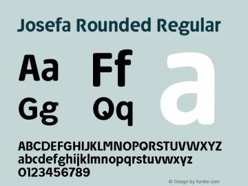 Josefa Rounded Medium Version 1.007图片样张