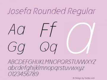 Josefa Rounded Thin Italic Version 1.011图片样张