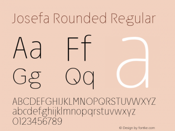 Josefa Rounded Thin Version 1.009图片样张