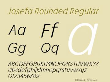 Josefa Rounded XtraLight Italic Version 1.011图片样张