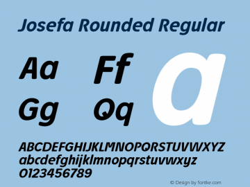 Josefa Rounded Medium Italic Version 1.011图片样张