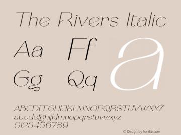 TheRivers-Italic FontLab 7图片样张