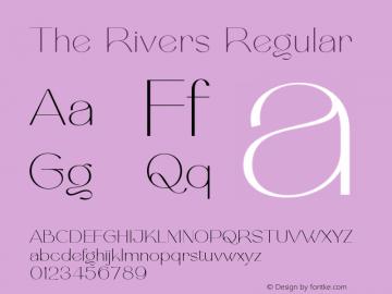 TheRivers-Regular FontLab 7图片样张