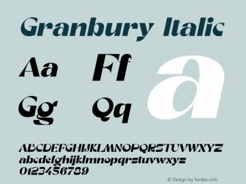Granbury-Italic Fontlab 7图片样张