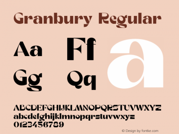 Granbury-Regular Fontlab 7图片样张