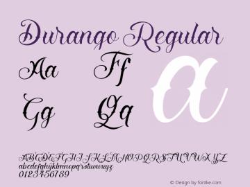 Durango Regular Version 1.000;hotconv 1.0.109;makeotfexe 2.5.65596图片样张