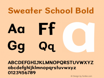 SweaterSchoolRg-Bold Version 1.300图片样张