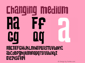 Changing Medium Version 1.00;September 7, 2021;FontCreator 12.0.0.2562 64-bit图片样张