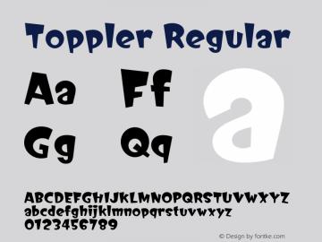 Toppler Version 1.00;September 7, 2021;FontCreator 12.0.0.2562 64-bit图片样张