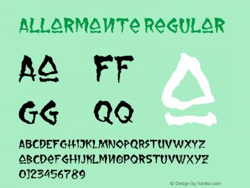 Allarmante-Regular Version 1.000图片样张