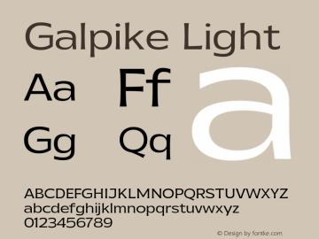 Galpike-Light Version 1.000图片样张