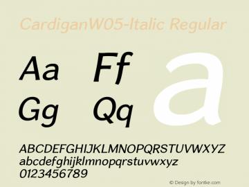Cardigan W05 Italic Version 1.20图片样张