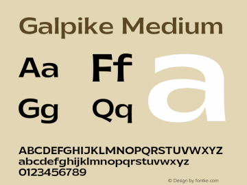 Galpike-Medium Version 1.000图片样张