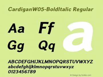Cardigan W05 Bold Italic Version 1.20图片样张
