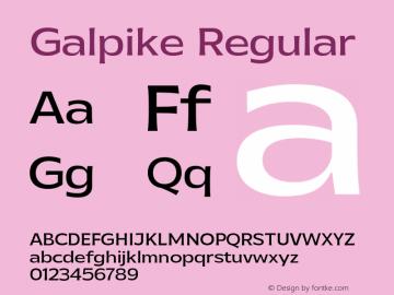 Galpike-Regular Version 1.000图片样张