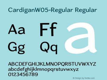 Cardigan W05 Regular Version 1.20图片样张