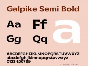Galpike-SemiBold Version 1.000图片样张