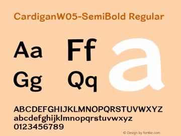 Cardigan W05 SemiBold Version 1.20图片样张