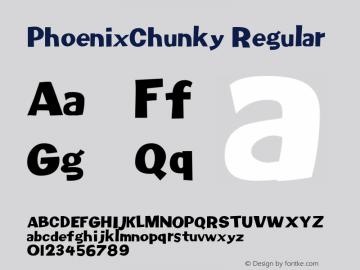 PhoenixChunky W05 Regular Version 4.10图片样张