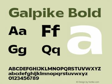 Galpike-Bold Version 1.000图片样张
