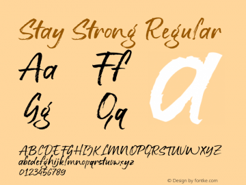 StayStrong-Regular Version 1.000图片样张