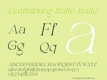 Gatlinburg-Italic Version 1.002;Fontself Maker 3.5.7图片样张