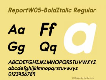 Report W05 Bold Italic Version 2.10图片样张