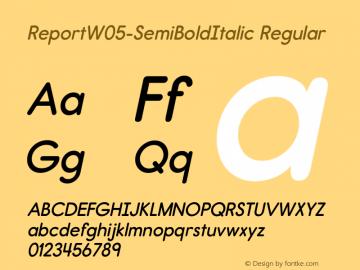 Report W05 SemiBold Italic Version 2.10图片样张