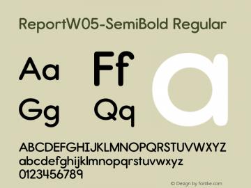 Report W05 SemiBold Version 2.10图片样张
