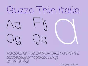 Guzzo Thin Italic Version 1.00图片样张