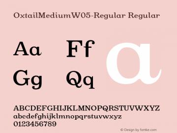 Oxtail Medium W05 Regular Version 3.10图片样张