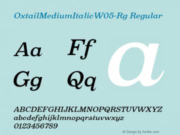 Oxtail MediumItalic W05 Regular Version 3.10图片样张