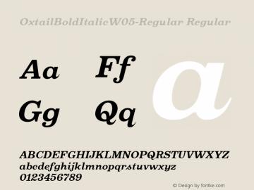 Oxtail BoldItalic W05 Regular Version 3.10图片样张