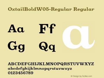 Oxtail Bold W05 Regular Version 3.10图片样张