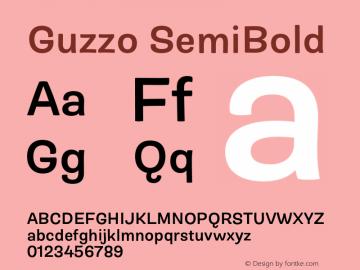 Guzzo SemiBold Version 1.00图片样张