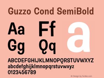 Guzzo Cond SemiBold Version 1.00图片样张