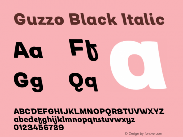 Guzzo Black Italic Version 1.00图片样张