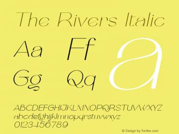 The Rivers Italic FontLab 7图片样张
