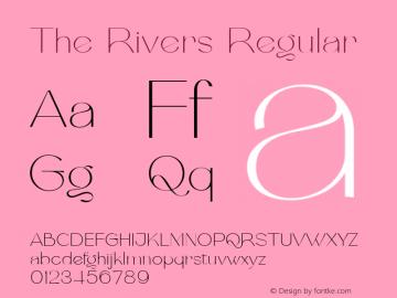 The Rivers Regular FontLab 7图片样张