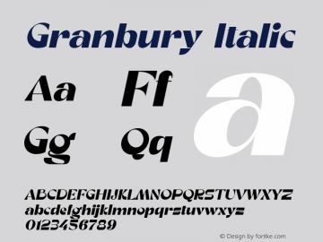 Granbury Italic Fontlab 7图片样张