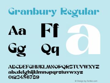 Granbury Regular Fontlab 7图片样张